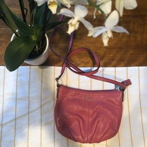Coach crossbody pink purse